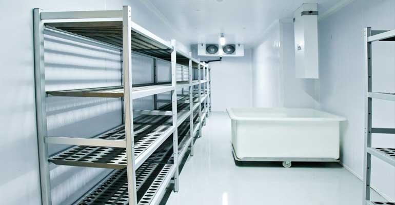 انواع سردخانه صنعتی - اتاق سرد یا فریزر walk-in